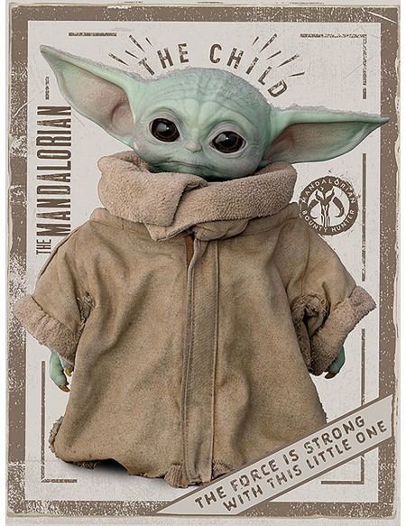 Star Wars The Mandalorian The Child Toile imprimée Standard