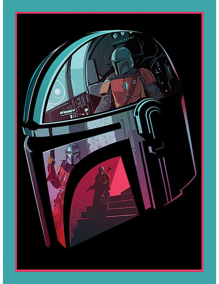 Star Wars The Mandalorian - Helmet Section Toile imprimée Standard