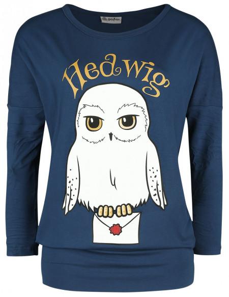 Harry Potter Hedwige Haut à manches longues bleu foncé