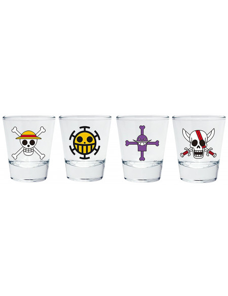 One Piece Emblèmes Set verres à shots multicolore
