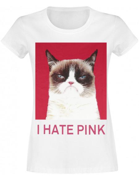 Grumpy Cat T-shirt Femme blanc