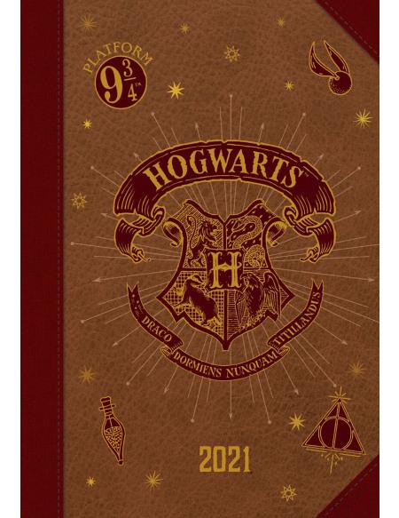 Harry Potter Agenda A5 2021 - Poudlard Agenda multicolore