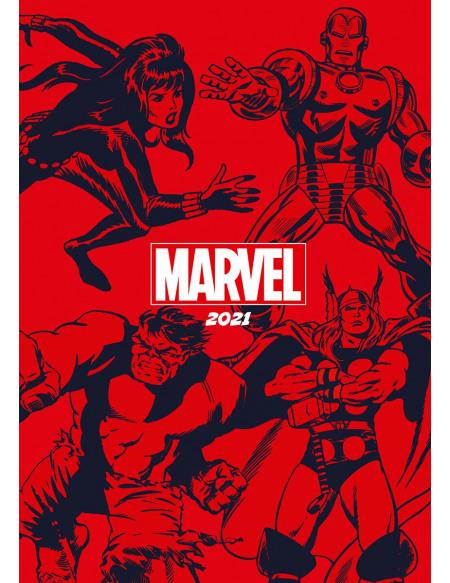 Marvel Agenda A5 2021 Agenda multicolore