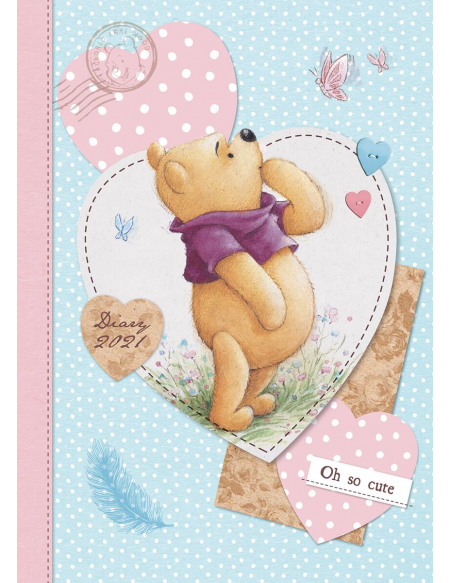Winnie L'Ourson Agenda A5 2021 Agenda multicolore