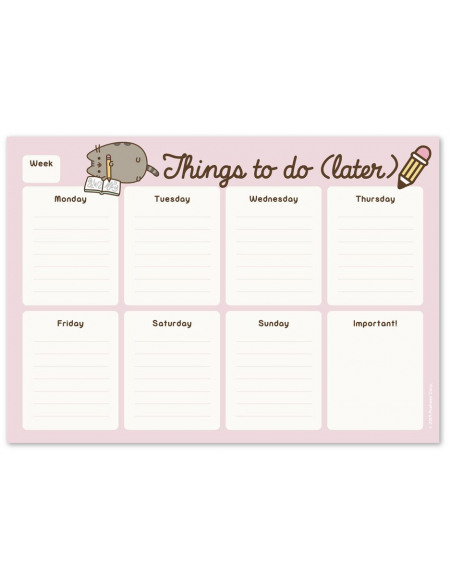 Pusheen Things To Do (Later) Bloc-notes rose
