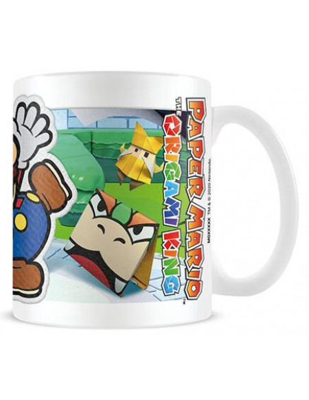 Super Mario Paper Mario - Scenery Cut Out Mug blanc