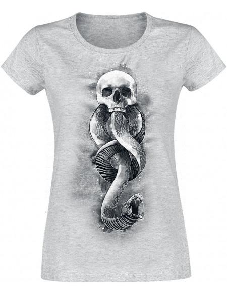 Harry Potter Forces du Mal - Marque des Ténèbres T-shirt Femme gris chiné
