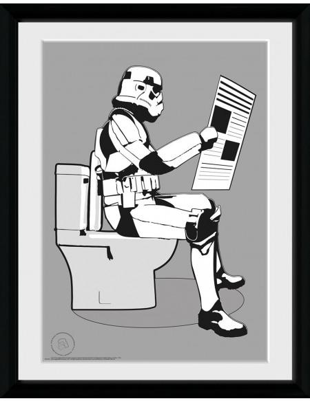 Original Stormtrooper Storm Pooper Photo encadrée Standard