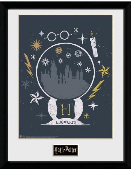 Harry Potter Boule À Neige Noël Photo encadrée Standard