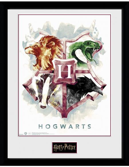 Harry Potter Poudlard Aquarelle Photo encadrée Standard
