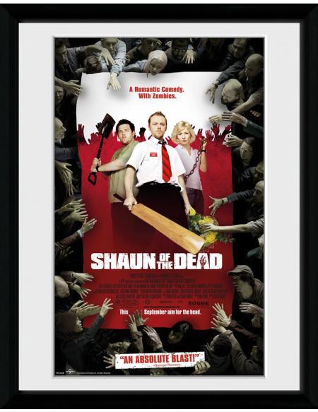 Shaun Of The Dead Poster Encadré Photo encadrée Standard