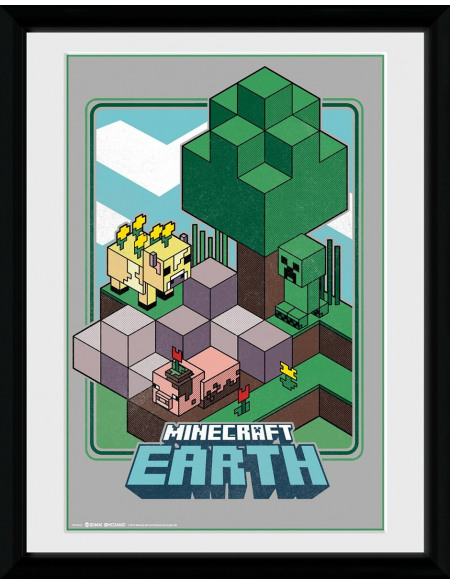 Minecraft Earth - Vintage Photo encadrée Standard