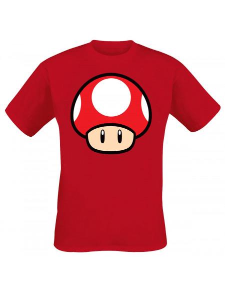 Super Mario Champignon T-shirt rouge