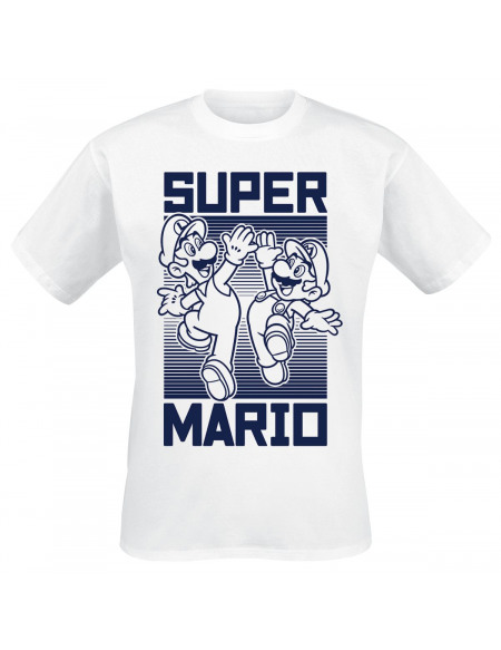 Super Mario High Five T-shirt blanc