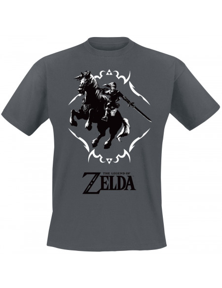 The Legend Of Zelda Link Et Epona T-shirt anthracite
