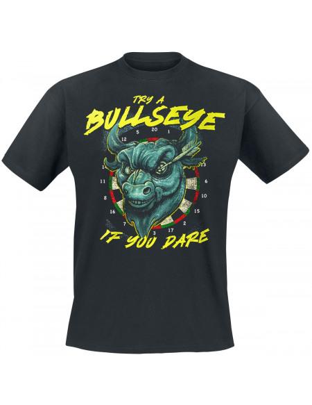 Darts Try A Bullseye - If You Dare T-shirt noir