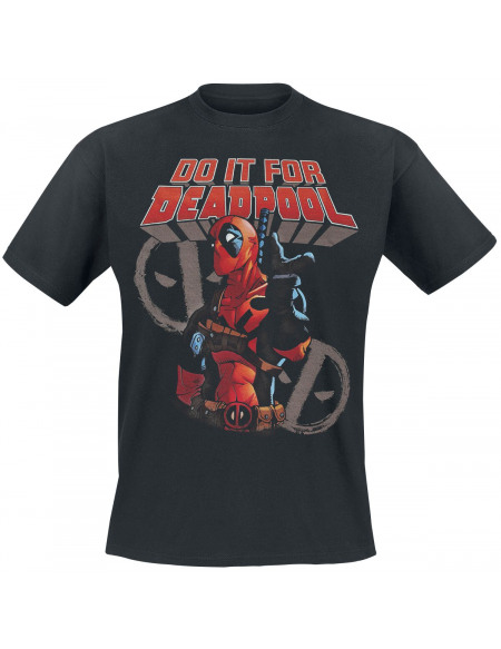 Deadpool Do It For Deadpool T-shirt noir