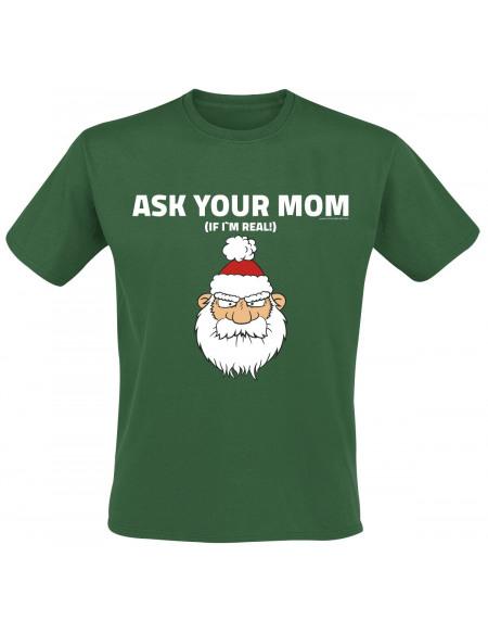 Ask Your Mom T-shirt vert foncé