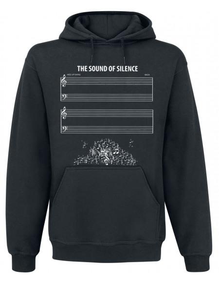 The Sound Of Silence Sweat à capuche noir
