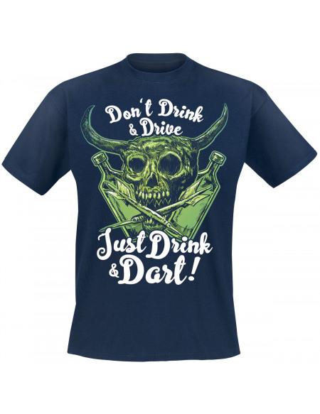Darts Just Drink And Dart T-shirt marine
