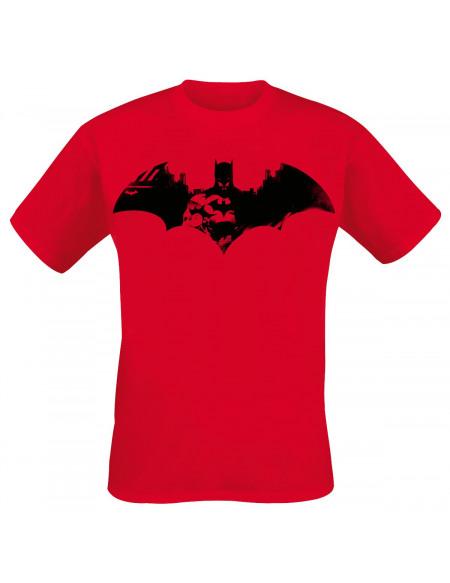 Batman Logo T-shirt rouge