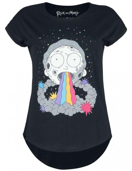 Rick & Morty Goodbye Moonmen T-shirt Femme noir
