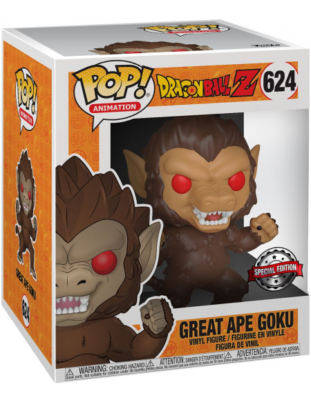 Dragon Ball Z- Great Ape Goku (Surdimensionné) Funko Pop! nº624 Figurine de collection Standard