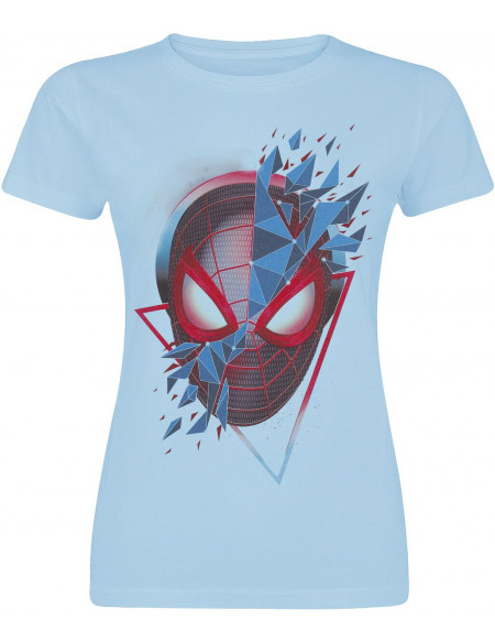 Spider-Man Miles Morales - Triangle T-shirt Femme bleu clair