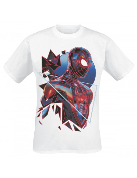 Spider-Man Miles Morales - Triangle T-shirt blanc