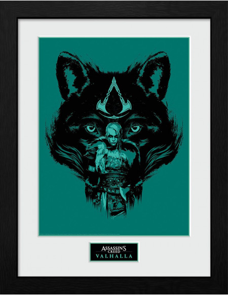 Assassin's Creed Assassin's Creed Valhalla - Wolf Photo encadrée Standard