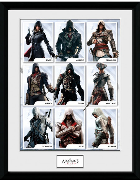 Assassin's Creed Compilation Personnages Photo encadrée Standard