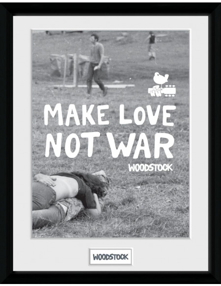 Woodstock Make Love Not War Photo encadrée Standard