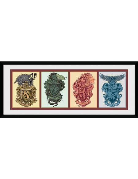 Harry Potter Emblèmes Des Maisons Photo encadrée multicolore