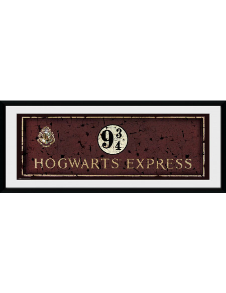 Harry Potter Poudlard Express Photo encadrée multicolore